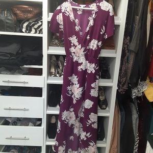 Candie's floral purple dress